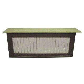 Store Counter With Bead Board Front