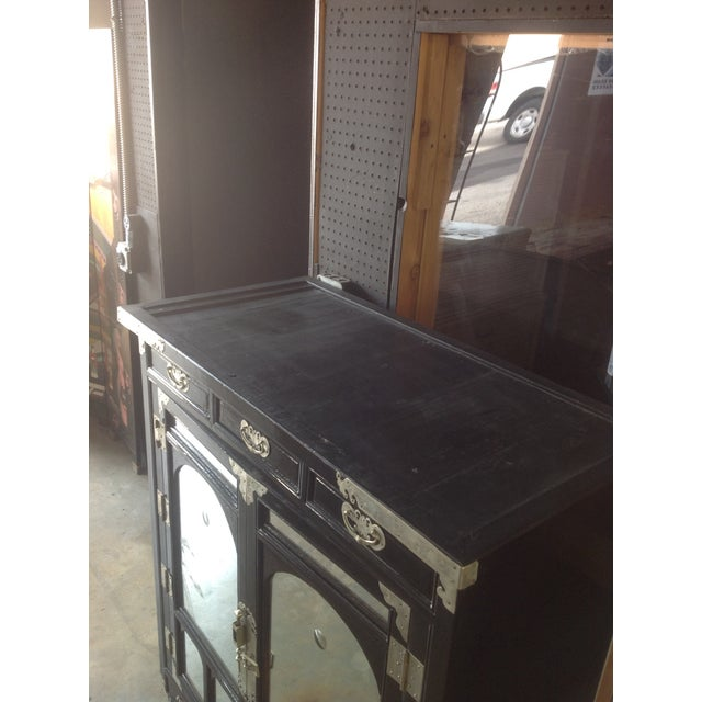 Black Lacquer Chinoiserie Cabinet - Image 8 of 10