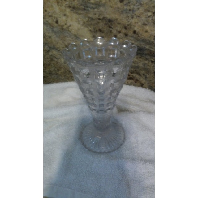 Art Deco Flared Glass Vase - Image 5 of 6