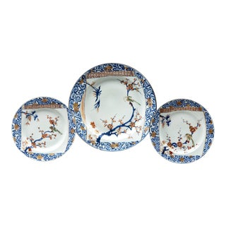 Set of Three Chinese Kangxi/Yongzheng Plates