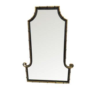 Hollywood Regency Gilt Metal Asian Pagoda Mirror