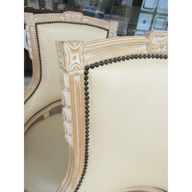 Cream White Carved Wood Dining Chairs - Set of 6 - Image 7 of 7