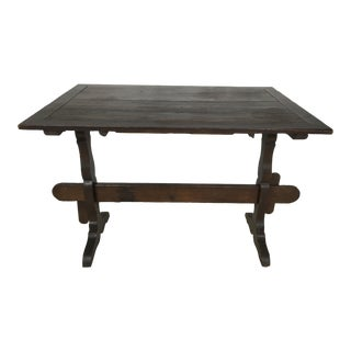 Antique English Trestle Pub Table