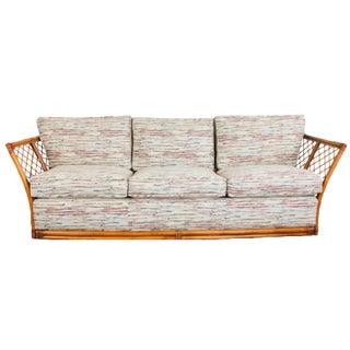 Rattan Upholstered Sofa