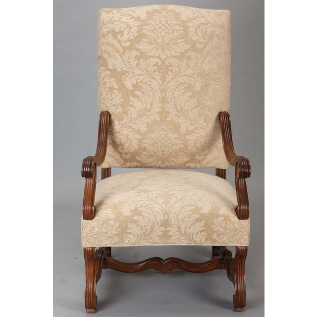 Antique Os Du Mouton Carved Armchairs - A Pair - Image 5 of 9