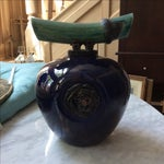 Image of Dark Blue Ceramic Wish Keeper Urn