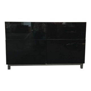 Black Laminate Oak Entertainment Console