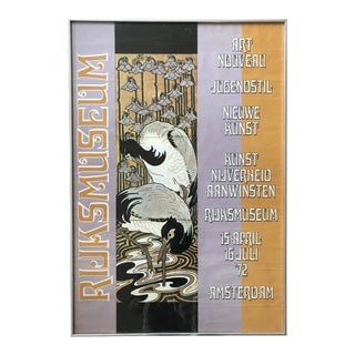 Art Nouveau Exhibition Poster Rijks Museum Amsterdam 70's Jugendstil