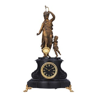 French Figural Mystery Clock