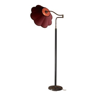 Josef Frank height-adjustable swiveling floor lamp for Kalmar, 1930s