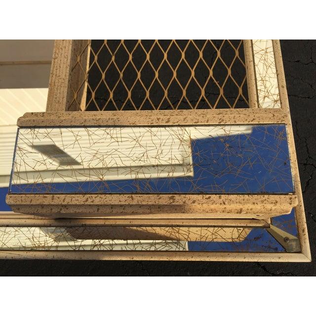 Image of Mid-Century Atomic Mirrored Shadowbox