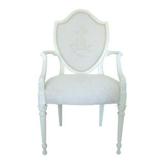 Antique 19th C. Shield Back Arm Chair
