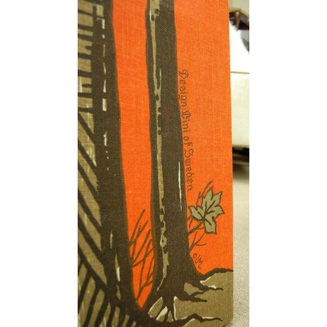 Vintage Red Orange Swedish Wall Hanging - Image 3 of 4