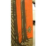 Image of Vintage Red Orange Swedish Wall Hanging