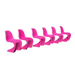 Fuchsia Panton S Chairs - Set of 6