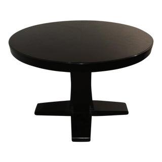Crate & Barrel Modern Pedestal Table With Leaf