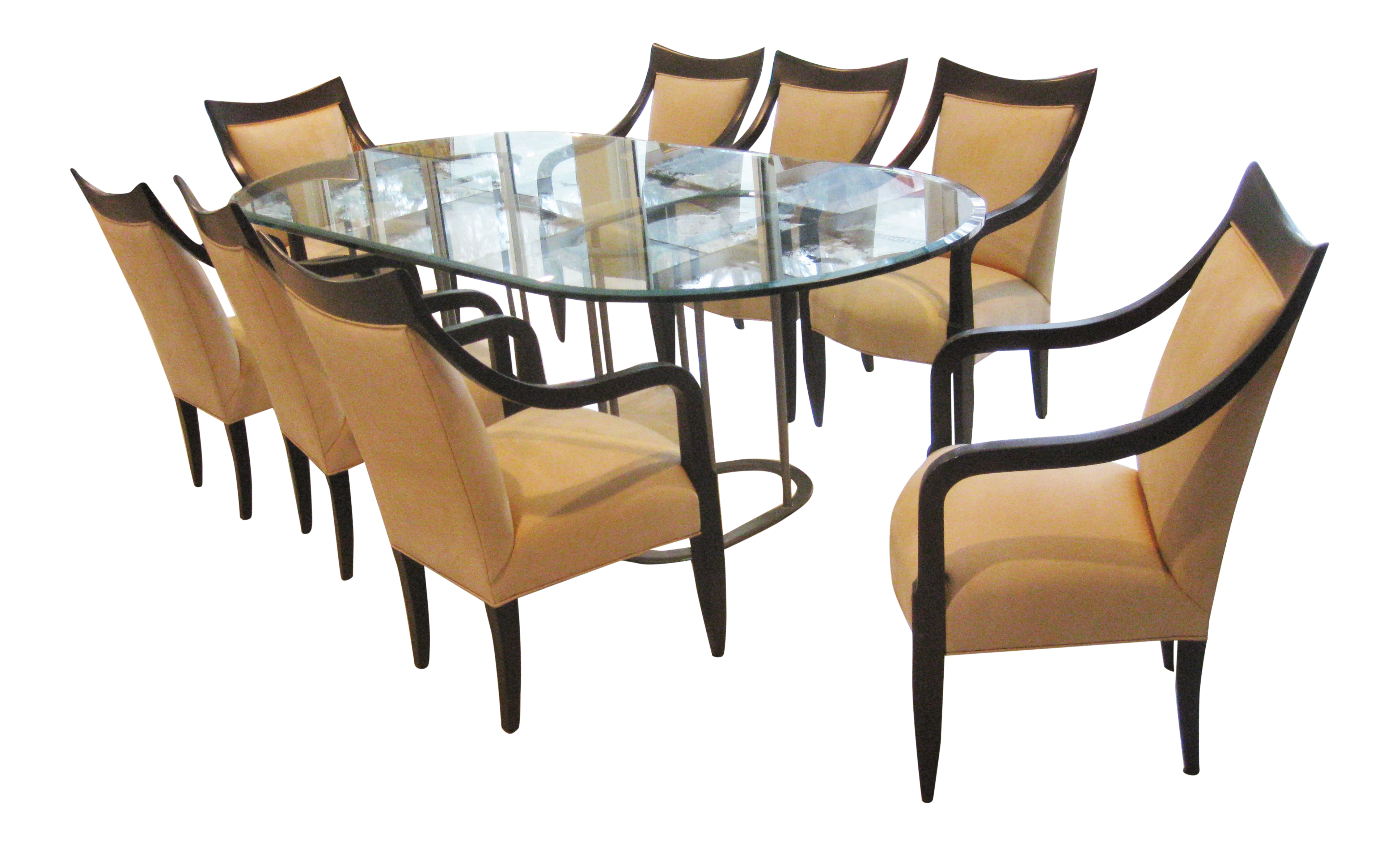 John Hutton For Donghia Dining Room Chairs U0026 Table   Set ...