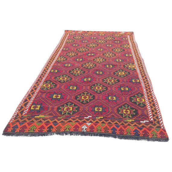 Vintage Handwoven Turkish Kilim Rug - Image 1 of 5