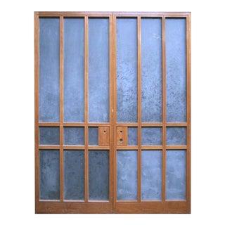 Modern Nine Lite Double Doors - A Pair