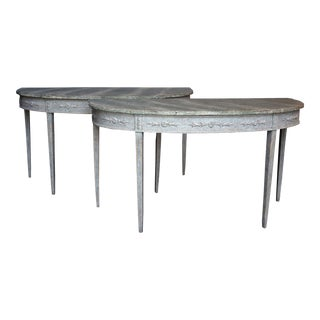 Pair of Period Gustavain Console Tables (#02-38)