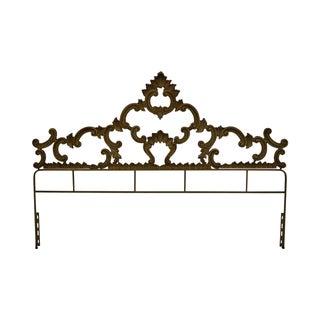 Gilt Metal French Rococo Style King Size Headboard
