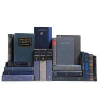 Blue Philosophy Books - Set of 20
