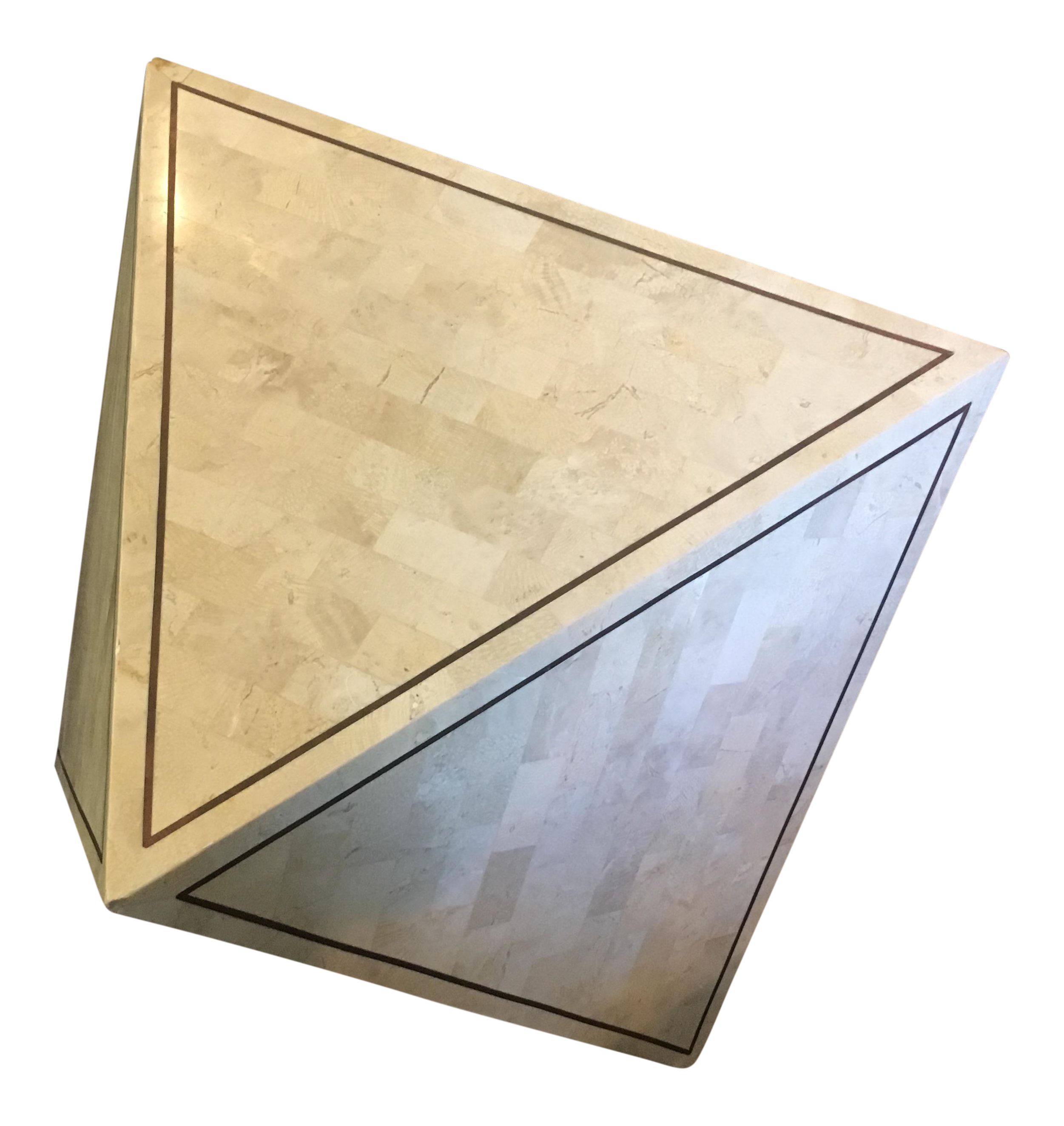 Maitland Smith Tessellated Stone Accent Table