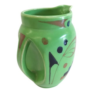 1950s Green Glazed Pitcher