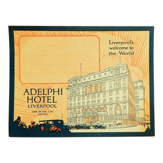 Vintage Luggage Label, Adelphi Hotel Liverpool England