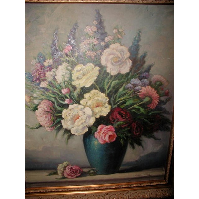 Original Floral Oil Painting Signed Chairish