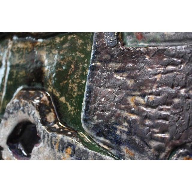 Monumental Mounted Polychrome Stoneware Panels by Mario Ferreira Da Silva - Image 3 of 10