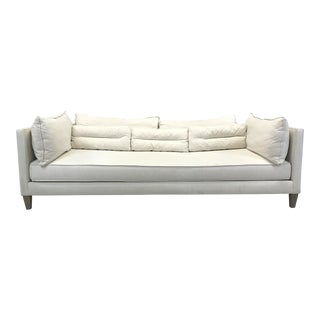 Crate & Barrel Linen Lounge Sofa