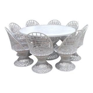 Mid-Century Spun Fiberglass Dining Set - Set of 9