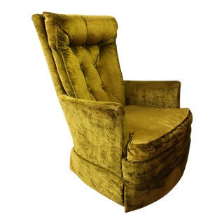 Kroehler High Back Swivel Rocker Chair