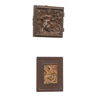 Jacobean Period Carved Oak Door depicting Bacchus, circa 1590