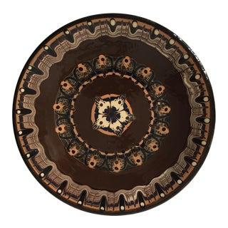 Vintage Geometric Romanian Wall Plate