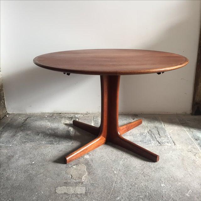 Mobler Teak Pedestal Dining Table - Image 5 of 8