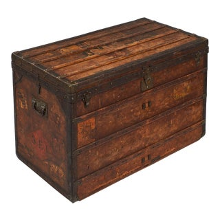 19th Century Antique Louis Vuitton Steamer Trunk