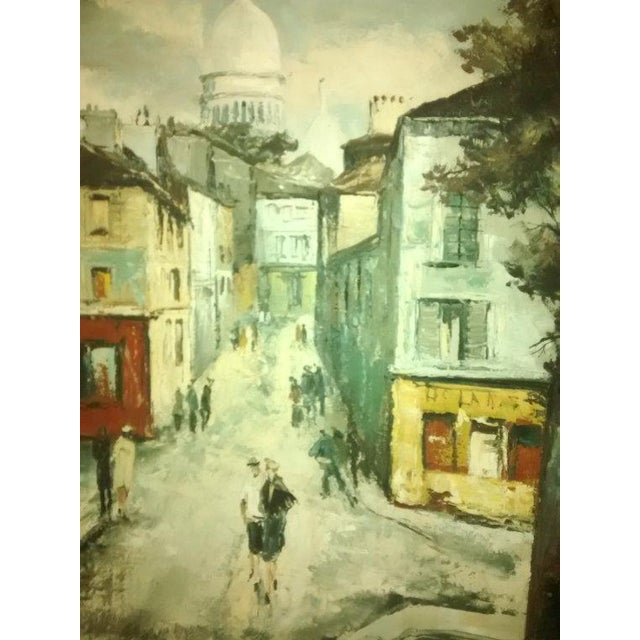 Hyung Chan Vintage Oil Painting of Paris - Image 3 of 6