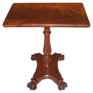 19th Century Neoclassical Side or Lamp Table of Figured Mahogany