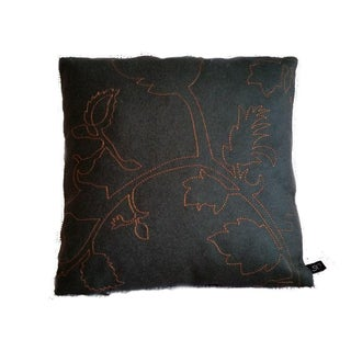 Maharam Layers Garden Peat & Copper Wool Pillow Cover