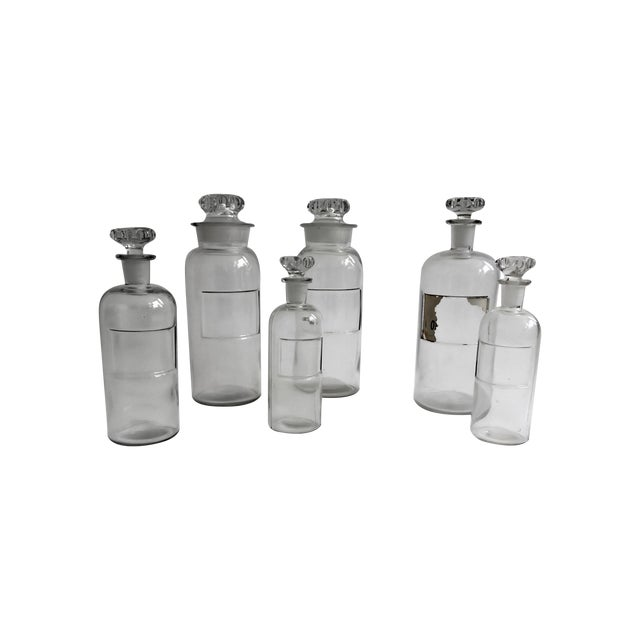 Antique Apothecary Bottles - Set of 6 - Image 1 of 6