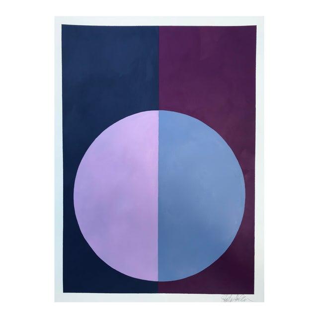 """""""Indigo & Violet Forever"""" Acrylic Painting - Image 1 of 5"""