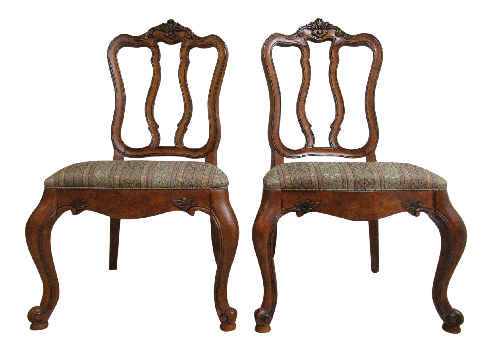 Ethan Allen Tuscany French Carved Dining Room Chairs  A Pair