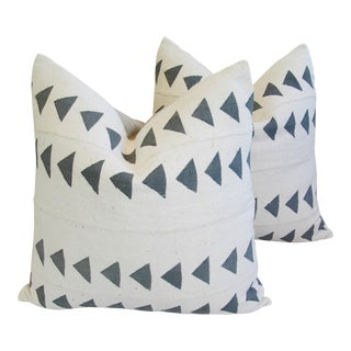 Boho Chic Mali Tribal Mud Cloth Pillows - A Pair