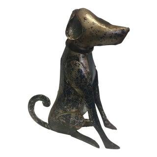 Reclaimed Steel Dog Sculpture