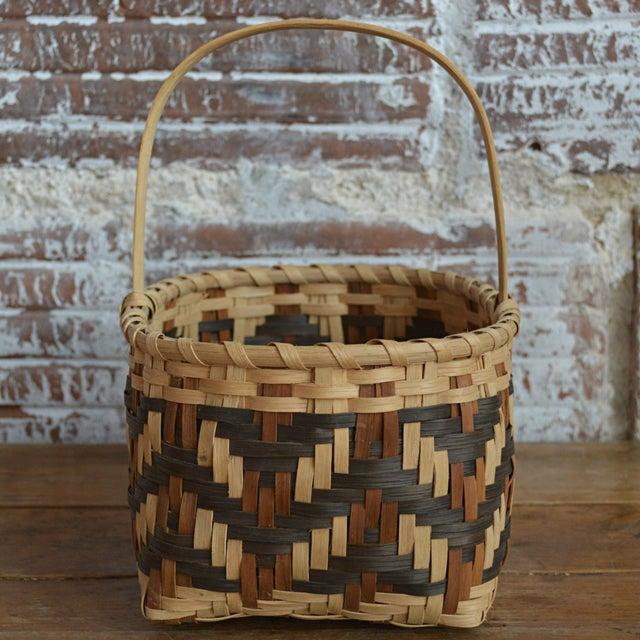 Carol Welch Cherokee White Oak Small Market Basket - Image 4 of 9