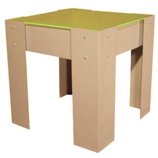 Industrial-Style Plexiglass Top Side Table