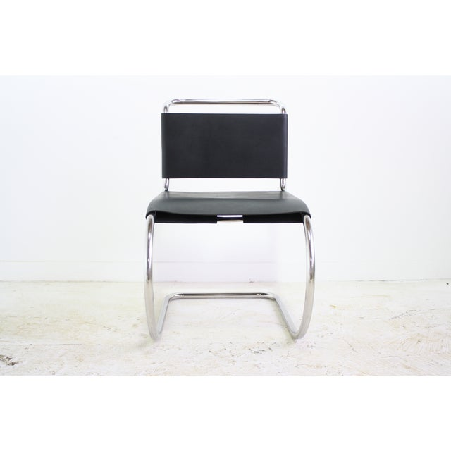 Image of Mies Van Der Rohe Leather Cantilever Chair 5 Avail