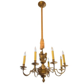 Pair of American Eight-Arm Chandeliers